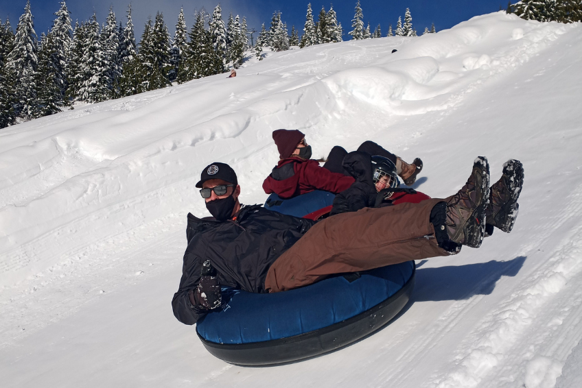 Family Tubing at Sasquatch Mountain Resort