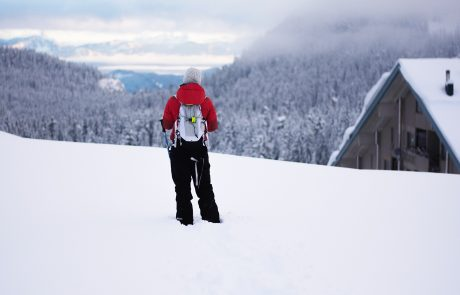 Snowshoe Trekker at Sasquatch Mountain Resort