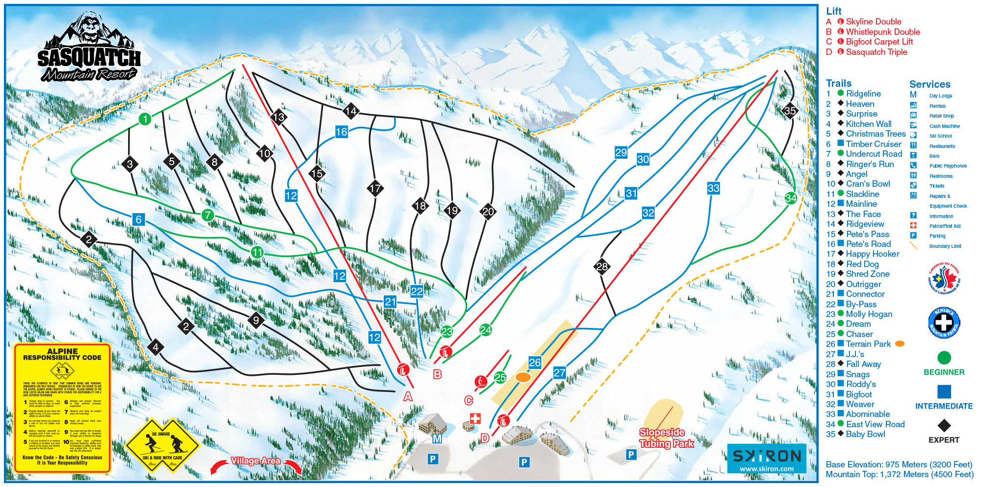 Trail Maps - Sasquatch Mountain Resort