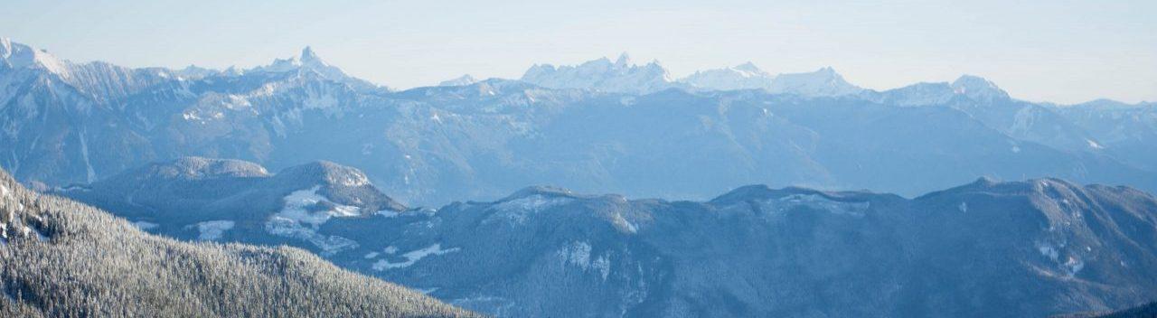 Beautiful mountains at Sasquatch Resort