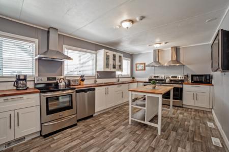 Staff accommodation kitchen at Sasquatch Mountain
