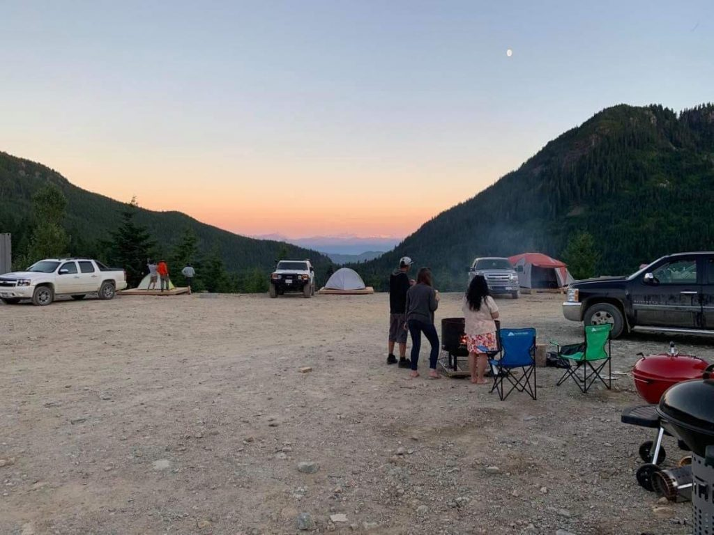 People out camping and enjoying the campground at Sasquatch Mountain Resort