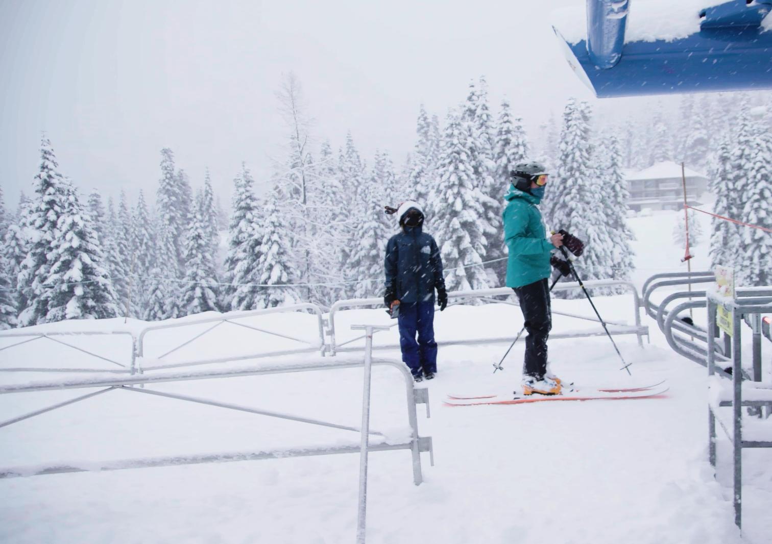 No lift lines at the yeti cruiser, Sasquatch Mountain Resort