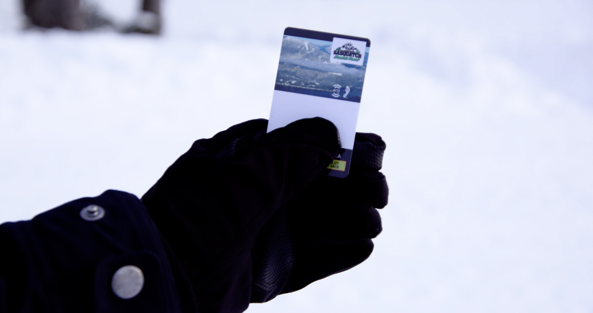 RFID card at Sasquatch Mountain Resort