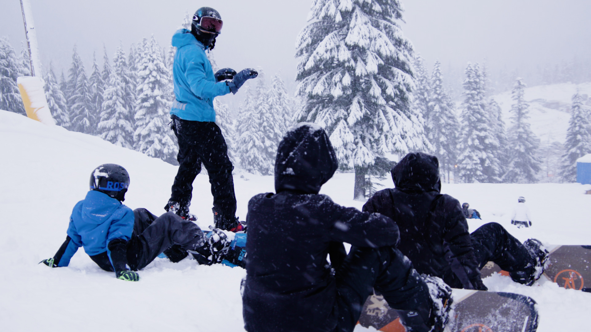 Snowboard instruction at Sasquatch Mountain Resort