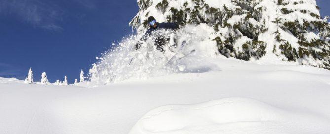 Mark Abma Skiing at Sasquatch Mountain Resort