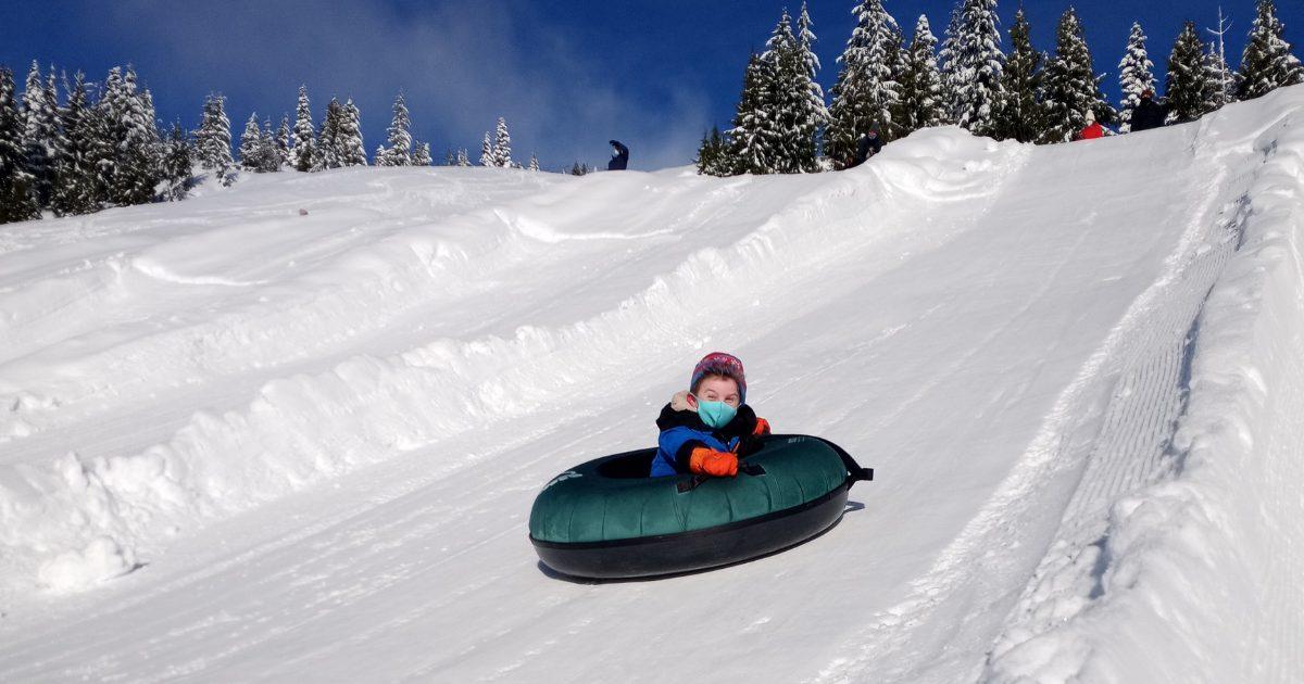 Child tubing at Sasquatch Mountain Resort