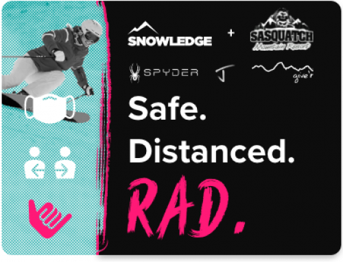 Keep it Safe. Distanced. Rad. Snowledge Contest