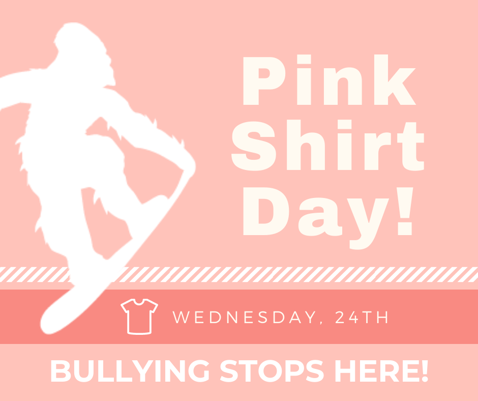 Pink Shirt Day - Bullying Stops here