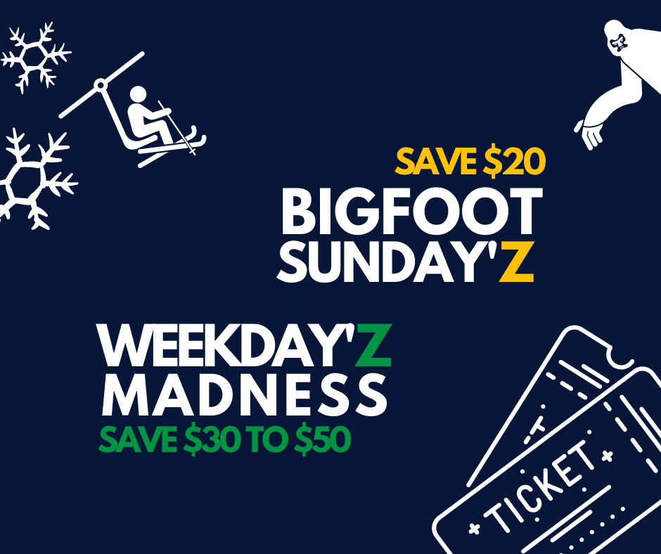 bigfoot sundayz and Weekdayz Madness offers