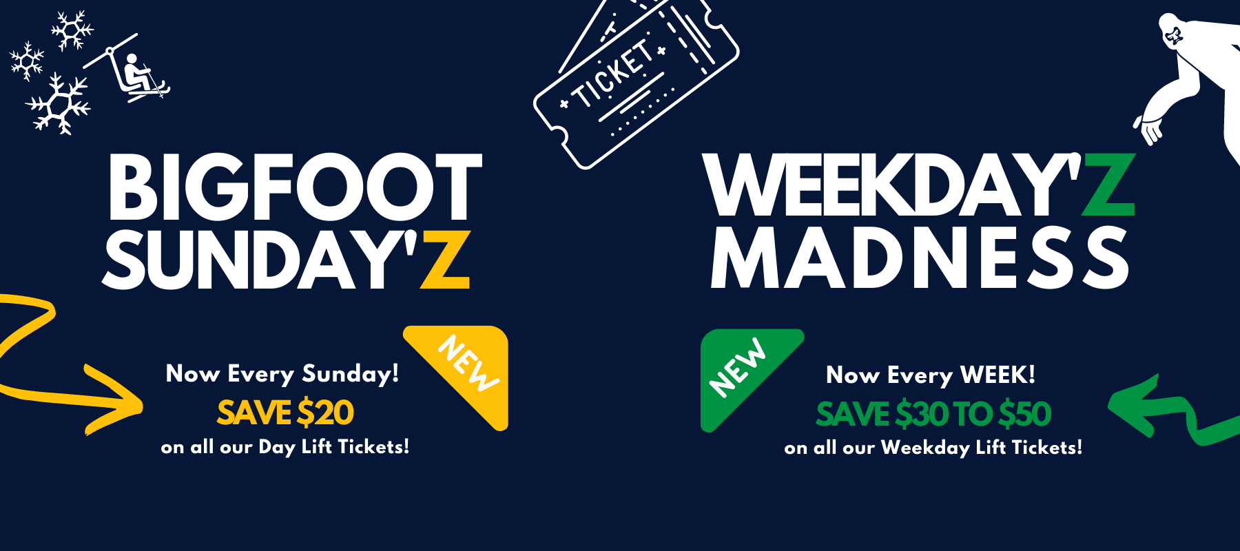 bigfoot sundayz and weekdayz madness offer