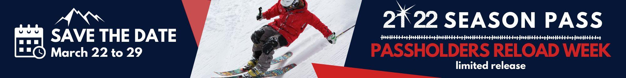 Winter Season Pass 2021 2022 PASS HOLDERS save the date